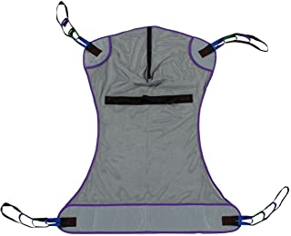 Full Body Mesh Patient Lift Sling, 600lb Weight Capacity (Large)