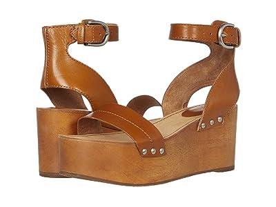 Frye Alva Flatform Sandal (Tobacco) Women