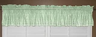 lovemyfabric Scalloped Bottom Cotton Eyelet Fabric Valance/Tier Window Treatment (56