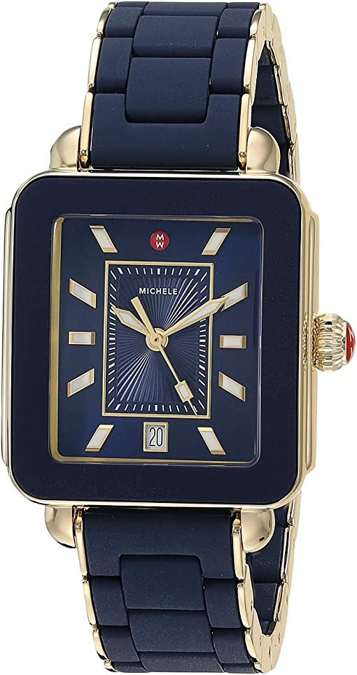 Deep Blue Wrapped Silicone/Gold Tone Case/Deep Blue Sunray Dial
