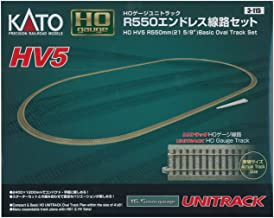 Kato USA Model Train Products HV5 UNITRACK R550mm Basic Oval Track Set, 21 5/8