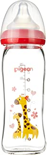 Pigeon SofTouch Peristaltic Plus WN Glass bottle , Giraffe