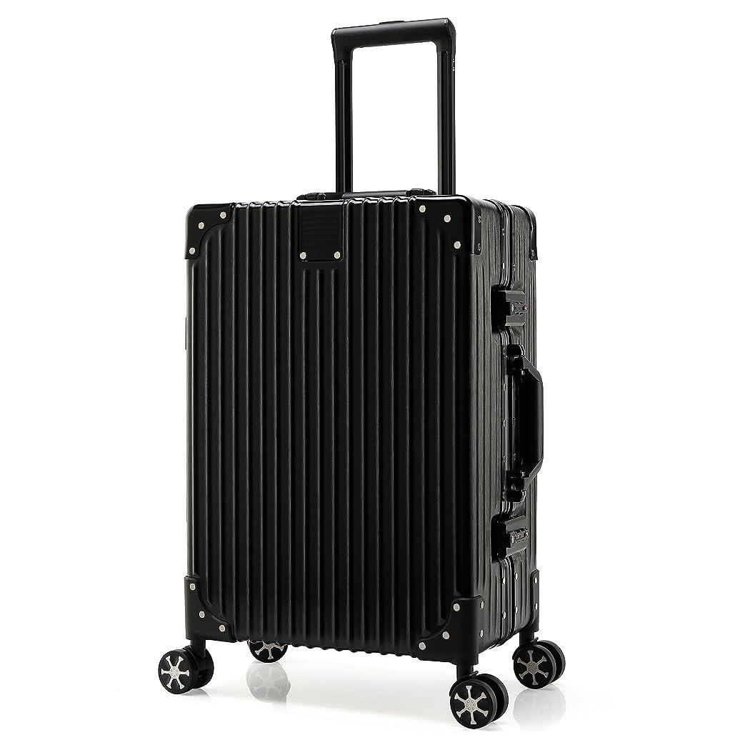 フロー最終肉腫Kroeus(クロース)スーツケース 人気 軽量 4輪ダブルキャスター 静音 キャリーケース 大容量 旅行 出張 TSAロック搭載 調節可能キャリーバー ヘアライン仕上げ 傷に強い 取扱説明書付