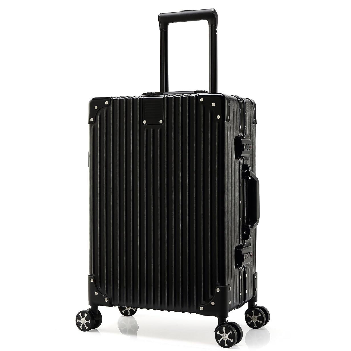 終了する偶然のハンドブックKroeus(クロース)スーツケース 人気 軽量 4輪ダブルキャスター 静音 キャリーケース 大容量 旅行 出張 TSAロック搭載 調節可能キャリーバー ヘアライン仕上げ 傷に強い 取扱説明書付