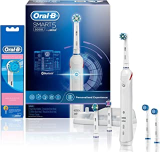 Oral-B Smart 5000 Electric Toothbrush and Sensitive Refill Heads 2pk, Bundle Pack