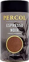 PERCOL ESPRESSO NOIR Instant Coffee Full-Flavored Taste & Silky Crema Finish – Dark, Intense Robusta Blend 3.5 oz 1 Pk