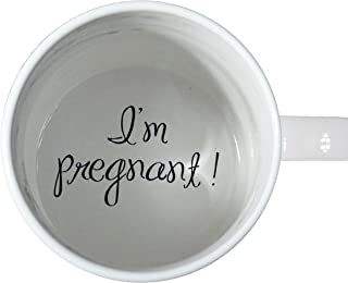 I'm Pregnant Coffee Mug, pregnancy reveal, Pregnancy Announcement, Father, Grandmother, Bottom mug, hidden message, secret message, Funny, Cool, Coffe cup