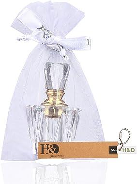 H&D Egyptian Crystal Glass Perfume Bottles Empty Bottle for Home Decor
