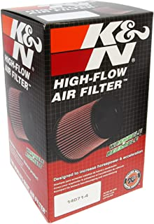 K&N RC-5144 Universal Clamp-On Air Filter: Round Tapered; 2.75 in (70 mm) Flange ID; 7.875 in (200 mm) Height; 4.75 in (121 mm) Base; 4 in (102 mm) Top