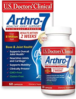 U.S. Doctors' Clinical Arthro-7 Original Formula for Joint Health & Mobility with Collagen, MSM, Vitamin C, Turmeric to Su...