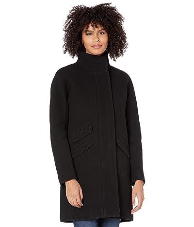 J.Crew Cocoon Coat in Italian Stadium-Cloth Wool (Black) Women