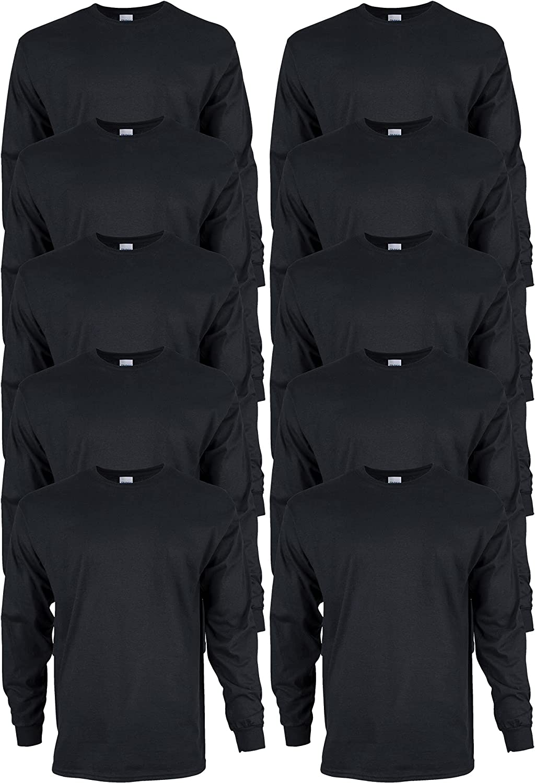Gildan Men's Max 64% OFF Ultra Cotton Long Sleeve G2400 Style Denver Mall T-Shirt Mult