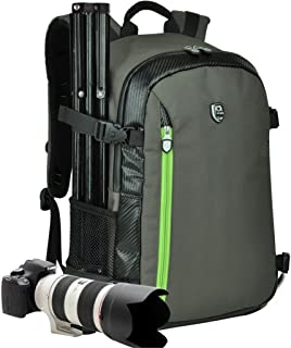YuHan Mochila para cámara de fotos y accesorios de gran capacidad impermeable protección contra impactos interior acolchado y funda impermeable adicional compatible con Canon Nikon Sony Nikon Olympus Samsung