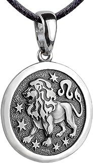 ليبرا زودياك علامة قلادة 925 الفضة الاسترليني برج الميدالية قرص العملة قلادة سحر كوكبة التنجيم مجوهرات للرجال النساء