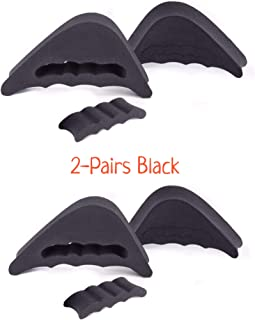 CaserBay Value Pack, EVA Shoe Filler, Inserts, Improve Shoes Slightly Too Big, for Men & Women, Kids, Pumps, Flats, Sneakers【Style A, 2 Pairs Black】