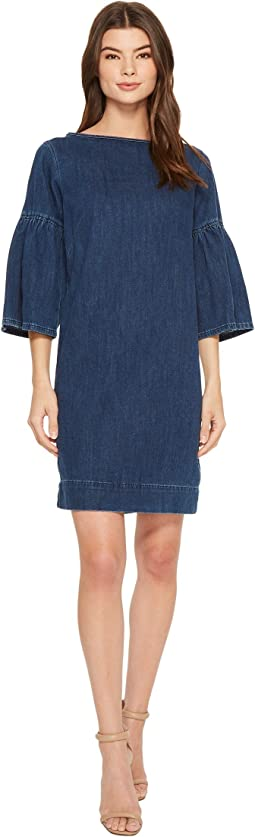 LAUREN Ralph Lauren Denim Bell-Sleeve Shift Dress