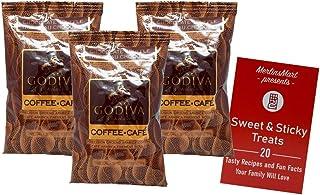 Godiva Chocolatier Chocolate Flavored Ground Coffee | Arabica Chocolate Truffle Flavor | Pack of 3 | Plus Recipe Booklet Gift Bundle (2 Ounces)