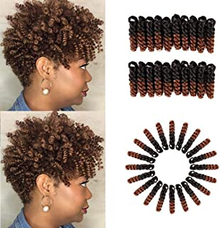 HairPhocas 5 Pack 10 inch Toni Short Jumpy Wand Curl Weave Crochet Braids Afro Curl Synthetic Hair Extensions for Women (8mm) #1B/30