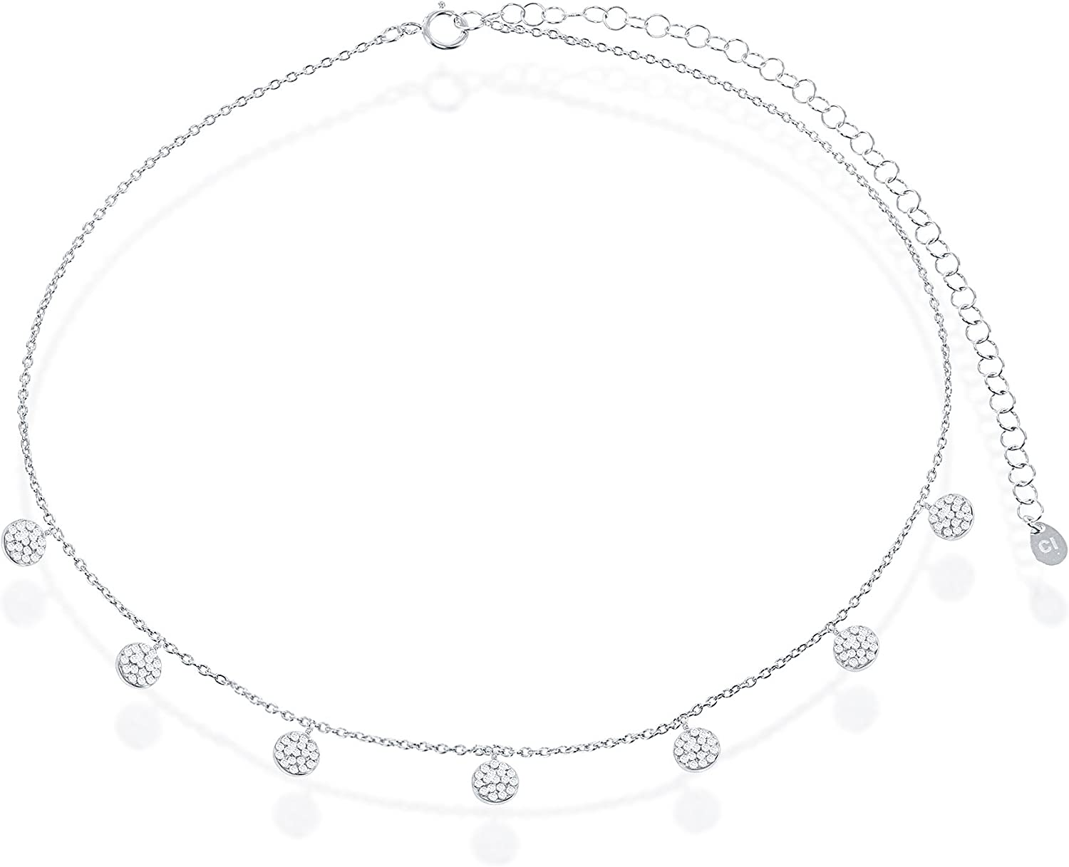 Sterling Silver High Polish Micro Pave Cubic Zirconia Dangling R