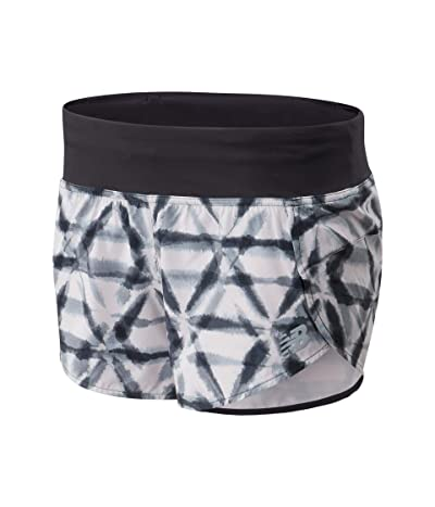 New Balance Printed Impact Run Shorts 3 (Logwood) Women