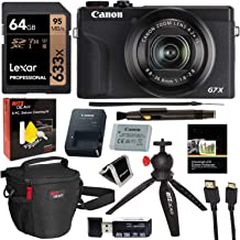 $789 Get Canon PowerShot G7X Mark III 20.1MP 4K Digital Camera with 4.2X Optical Zoom Lens 24-100mm f/1.8-2.8 Black 3637C001 with 64GB Memory, Tripod, Camera Bag, HDMI Cable, Cleaning Kit Bundle