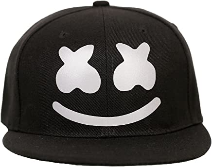 f0c383cb28771 Marshmello Hat DJ Hip-hop Cap Luminous Cap Music DJ Mask Party Prop Black
