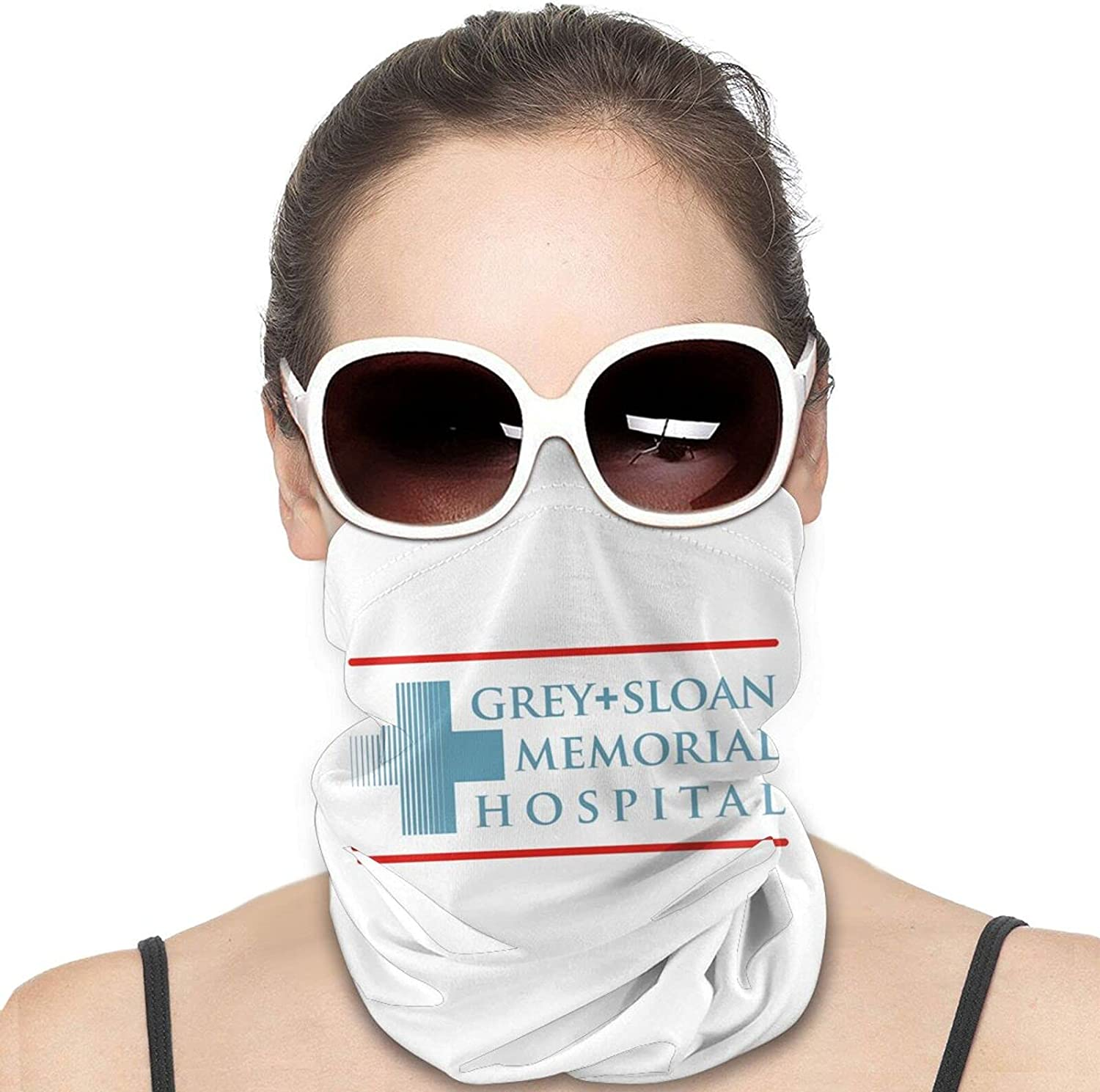 Grey Sloan Memorial Hospital Round Neck Gaiter Bandnas Face Cover Uv Protection Prevent bask in Ice Scarf Headbands Perfect for Motorcycle Cycling Running Festival Raves Outdoors