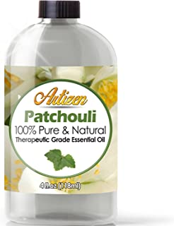 Artizen Patchouli Essential Oil (100% PURE & NATURAL - UNDILUTED) Therapeutic Grade - Huge 4oz Bottle - Perfect for Aromatherapy, Relaxation, Skin Therapy & More!