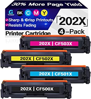 Go4max Compatible Toner Cartridges Replacement for HP 202X 202A CF501X CF501A Toners use with HP Laserjet Pro MFP M281fdw ...