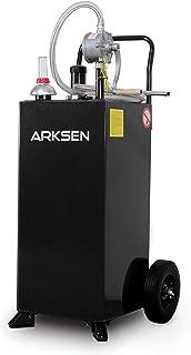 Arksen 30 Gallon Portable Fuel Transfer Gas Can Caddy Storage Gasoline Tank Heavy Duty 30-Gallons Capacity- Black