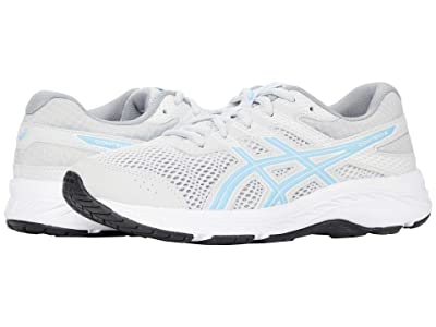 ASICS Kids GEL-Contend 6 (Little Kid/Big Kid) (Glacier Grey/Arctic Sky) Girl