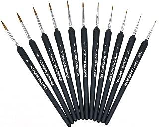 (インタートイボ) INTERTOYBO ペイントブラシ 面相筆 11本 セット プラモデル フィギュア 筆 塗装