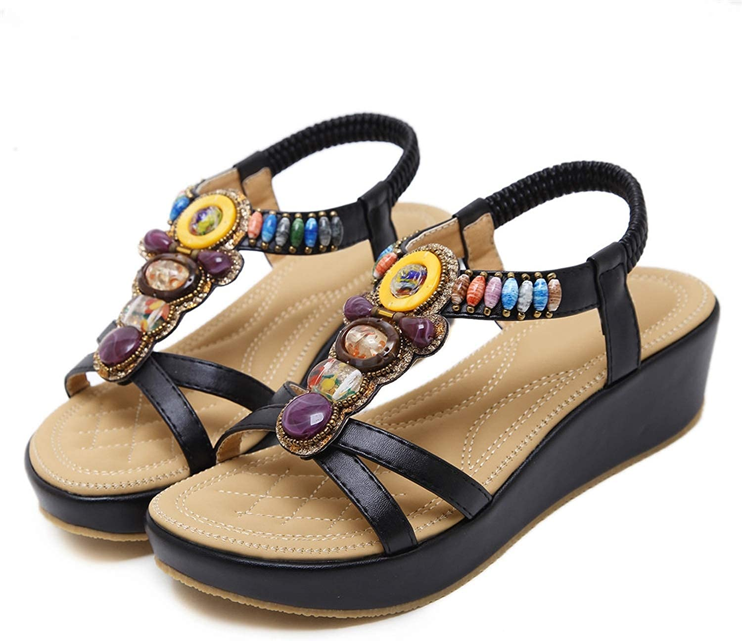 Lazy&Sexy-Heels Black Apricot Summer shoes Woman Platform Wedges shoes Casual Comfortable Sandals Women