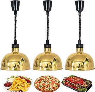 YDDHQ Lámpara de Calor Telescópica para Alimentos, Calentador de Alimentos con Bombilla Calefactora 250W, Luz Colgante Calefactora para Buffet y Cocina, 60-180 Cm, 220 V
