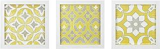Madison Park Heart Strings 3 Piece Set Wall Art - Tuscan Tiles Framed Gel Coated Canvas Modern Bohemian Design Multi Panel...
