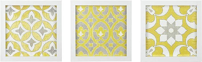 Madison Park Wall Art Living Room Decor-Framed Gel Coated Canvas, Home Accent Modern..