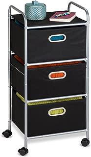 Honey-Can-Do CRT-02184 Rolling Storage Cart, Black/Chrome