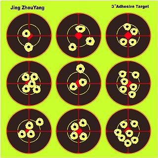 JingZhouYang Splatter Targets for Shooting - Reactive Bright Fluorescent Yellow Shot Marking - Airsoft, Pellet Gun, Rifle, Shotgun - Indoor, Outdoor, Long, Short Range Practice