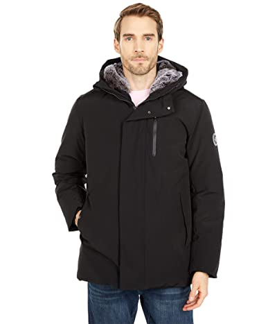 Save the Duck Copy Faux Fur Lined Hooded Winter Parka (Black) Men