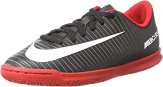 jr Mercurial Vortex III IC Soccer Shoe (Black/White-Dark Grey)