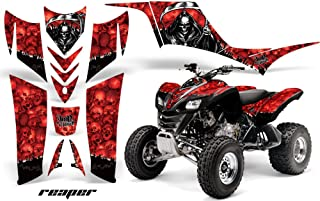 AMR Racing Graphics Kit for ATV Kawasaki KFX 700 2004-2009 REAPER RED