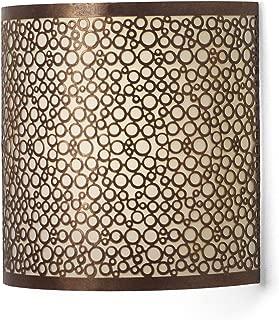 It's Exciting Lighting IEL-2900 Olita Barrel Wireless Wall Sconce, Amber