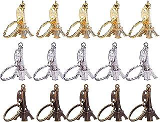 حلقه کلید Keychain برج ایفل 15 قطعه Retro Adornment