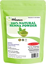mi nature Henna Powder (LAWSONIA INERMIS)/ 100% Pure, Natural and Organic From Rajasthan, India (227g / (1/2 lb) For Hair Dye/Color,