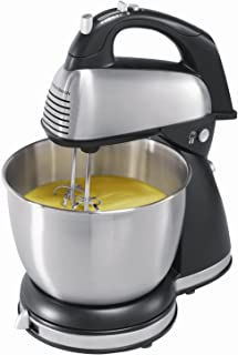 Hamilton Beach 64650 6-Speed Classic Stand Mixer, Stainless Steel, Stainless steel (Renewed)