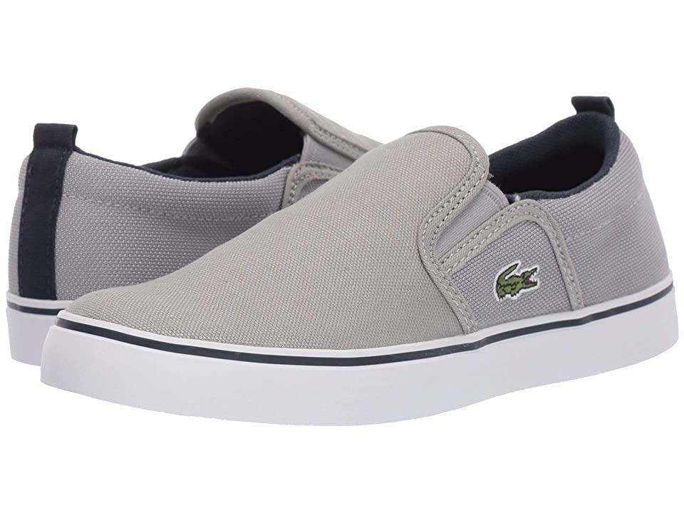 Lacoste Kids Gazon 219 1 CUC (Little Kid) (Grey/Navy) Kid