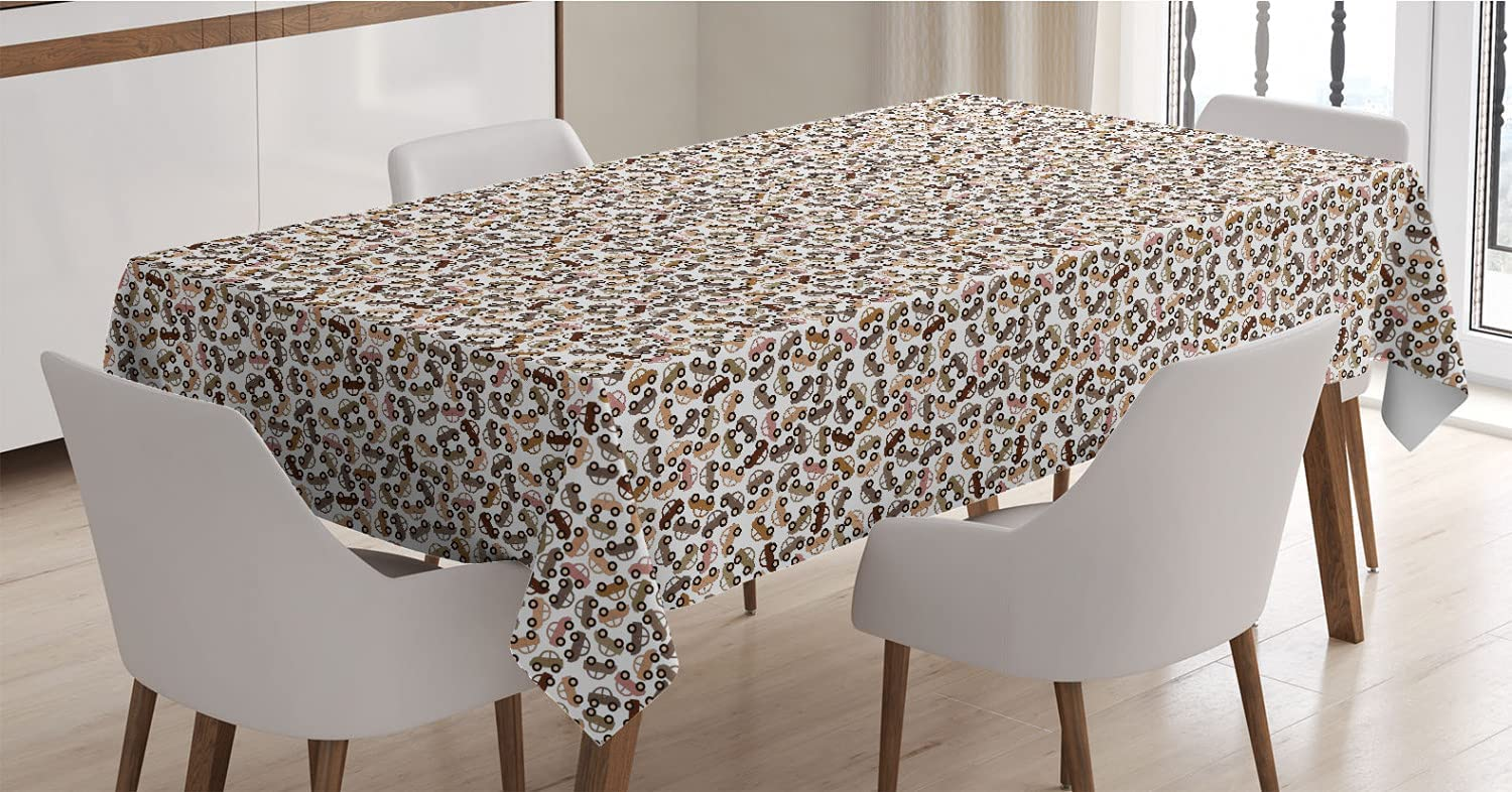Ambesonne Automobile Tablecloth Vintage Style Depiction Max 51% OFF Award Repe of
