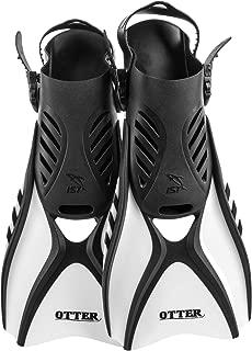 IST FK31 Otter Trek Swim Fins, Short Compact Snorkeling Flippers with Open Heel & Adjustable Straps for Travel