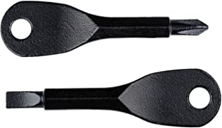 Pocket Tool Mini Tool Screwdriver Set 2 Key Stainless Steel Keychain EDC Outdoor Multifunction Keychain (Black)