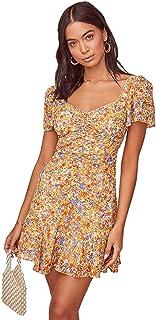 ASTR the label Women's Short Flutter Sleeve SO Smitten Drop Waist Mini Dress